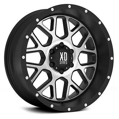 20 Inch Black Silver Wheels Rims Chevy 2500 3500 1500HD Dodge RAM Ford Truck 8 L