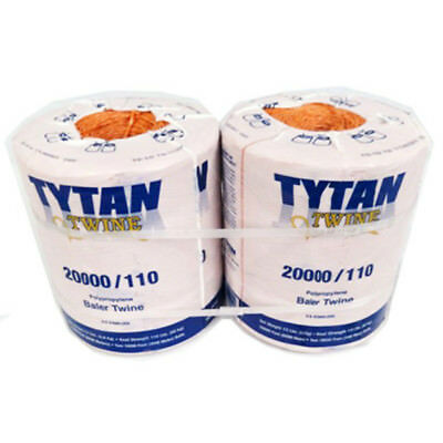 Tytan International Pbt20110tonbp Polypropylene Baler Twine 20000 Orange2-pk