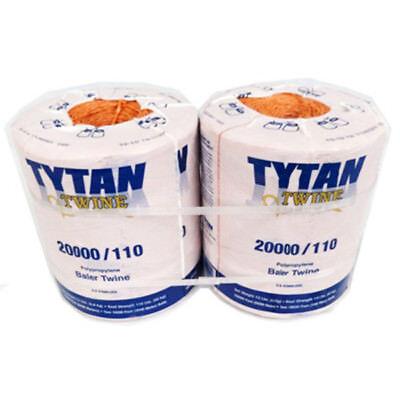 Tytan International Pbt20110tonbp Polypropylene Baler Twine 20000 Orange2-pk