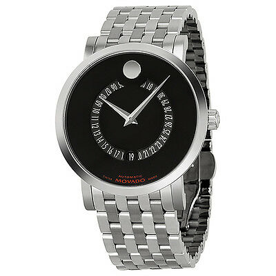 Movado Red Label Stainless Steel Mens Watch 0606284
