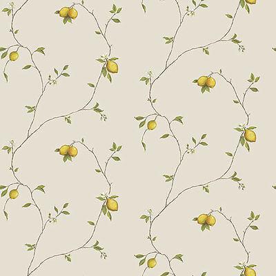 G12081 - Kitchen Recipes Lemons Cream Yellow Galerie Wallpaper