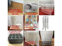 Bakery CLEAR OUT - All No Longer Used Equipment For Sale To Clear!! BOXES TRAYS EQUIPMENT ETC