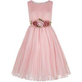 Gorgeous MONSOON Flower Girl/Bridesmaids Dress, Dusky Pink, Age 11, RRP £55 - Summer Wedding