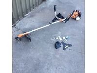 Petrol strimmer not STIHL brush cutter blade & harness only used twice Autumn bargain