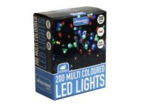200 Multi Coloured Static Outdoor / Indoor LED Christmas Lights (NEW) + FREE local delivery
