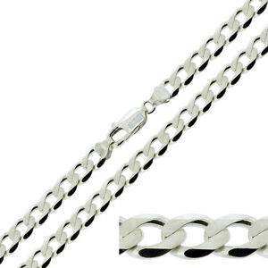 925-STERLING-SILVER-20-22-24-INCH-HEAVY-CURB-LINK-CHAIN-NECKLACE-UK