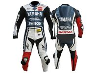 Yamaha 1or2pc motorbike Leather Racing Suit, CE Approved Armour