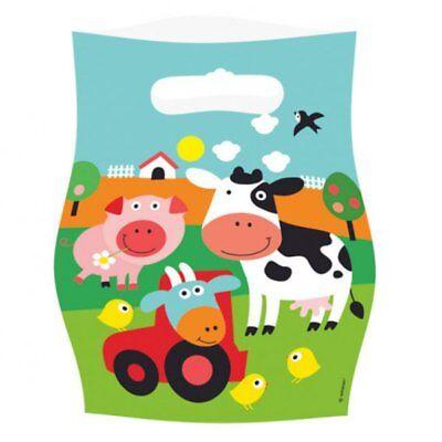 Mitgebselbeutel für Bauernhofparty Kindergeburtstag, 8 Partytüten, Geschenktüten ()