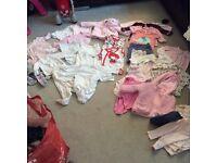 Huge bundle Girls Clothes ranging 0-9 months Zara, monsoon, junior j