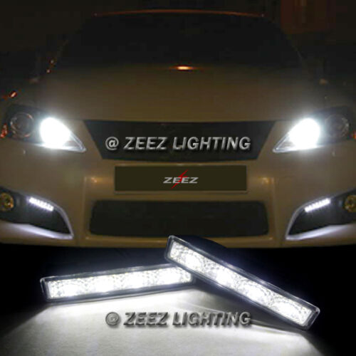 Xenon White 4 LED Daytime Running Light DRL Daylight Kit Day Driving Lamp C07