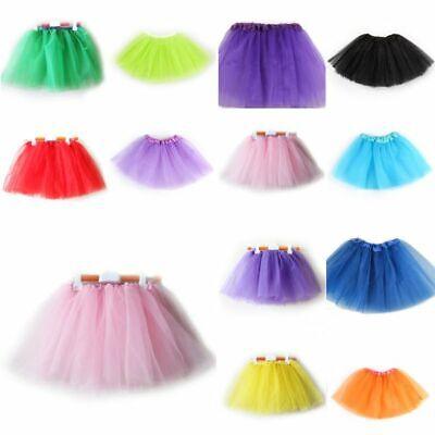 Girls Kids Tutu Party Ballet Dance Wear Dress Skirt Pettiskirt Costume US