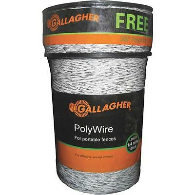 8 Pk Gallagher 1620 Poly 6 Strand Steel Electric Fence Wire Combo Roll G620300
