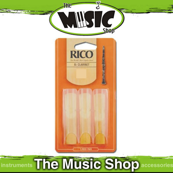 Rico BB Clarinet Reeds 3 Pack Reed Size 2.5 RCA0325 3pk | eBay