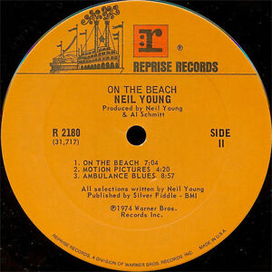 Neil Young - On the Beach LP Vinyl Record Peterborough Peterborough Area image 4