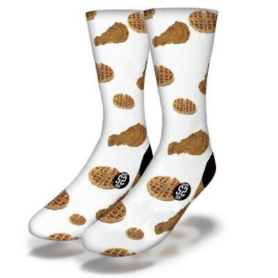 Junioren Waffel (Neu Erwachsene Junior Savvy Sox Huhn & Waffeln Socken Limited Release Osfa)