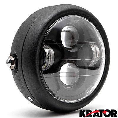"""6.5"""" Matte Black Metal Projector Daymaker LED Headlight For Cafe Racer Bobber"""