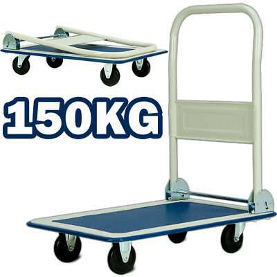 Folding Platform Trolley 150KG Truck Barrow Sack Cart Heavy Duty Hand Cart Flat