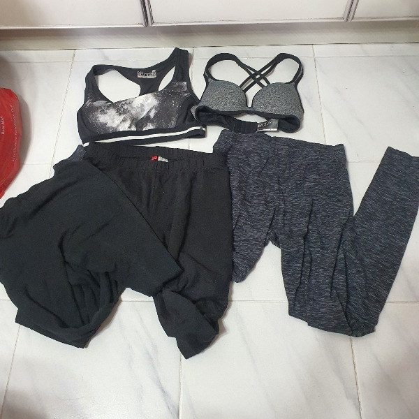 Whole lot - Sports leggings and bras. H&M under armour cotton on body