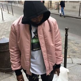 Brand New Supreme X Undercover Large Black/Pink Reversible MA-1 Bomber Jacket With Receipt