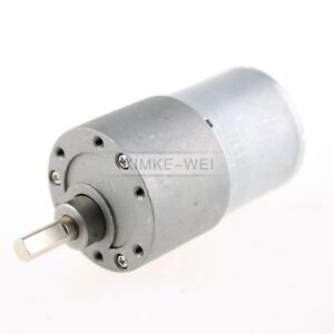 12V-DC-50RPM-High-Torque-Gear-Box-Electric-Motor-New