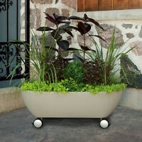 Container Garden Planter on Wheels - Great for Decks and Patios