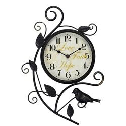 Better Homes and Gardens BH41-061-199-03 15.25 Bird Wall Clock