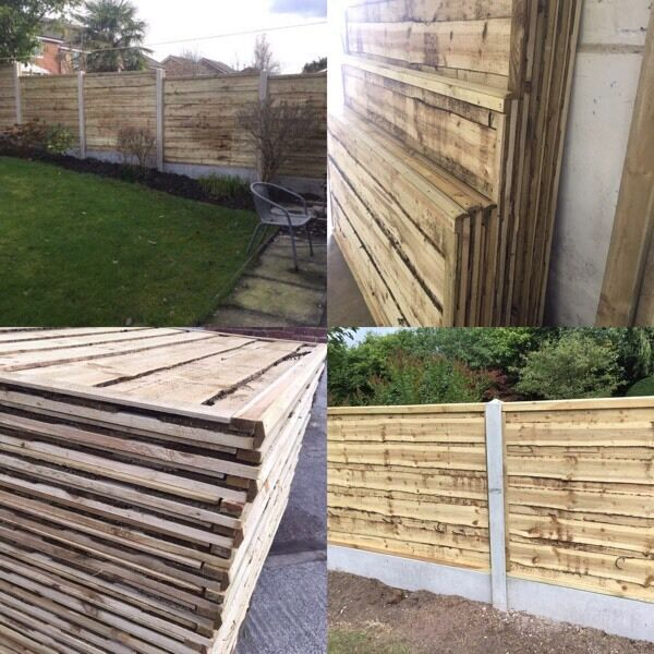 🔨🌟The Finest Quality Heavy Duty Waneylap Tanalised Fence Panels
