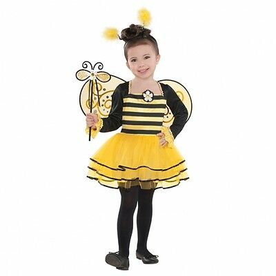 Biene Mädchen Kostüm (Biene Mädchen Kostüm Gr.104 110 Kleid & Flügel & Haarreif - Karneval Kostüm)
