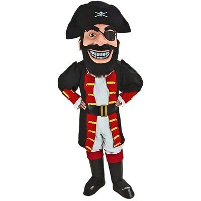 Pirate Captain Redbeard Professional Quality Mascot Costume Adult Size