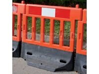60 + Chapter 8 Strongwall Pedestrain Road Work Barriers Orange