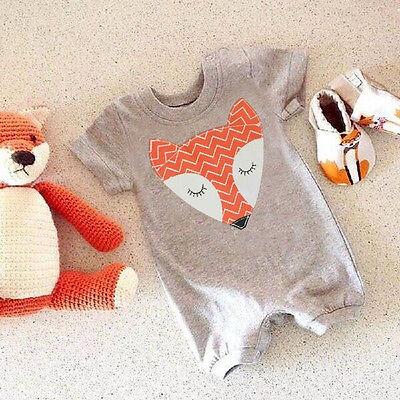 Unisex Newborn Baby Boys Girls Cute Fox Bodysuit Romper Jumpsuit Cotton Outfits ()
