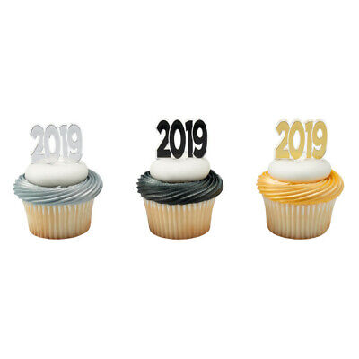 Graduation Cake Toppers New 2019 Cupcake Picks One Dozen