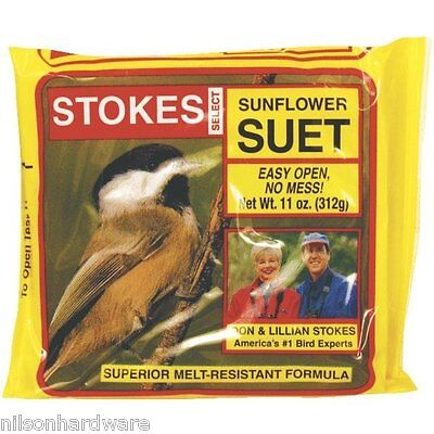 12 Pack Stokes Select Bird Food Seed Black Sunflower Suet 11 Oz 574