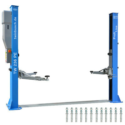 Twin Busch ® NEUE 2 Säulen Kfz Hebebühne 3.6 t + autom Entriegelung - PROFI LINE