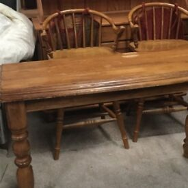 Solid wood farm house style consort table