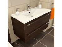 Icona Classic Chestnut Wall Hung Vanity Unit & Basin - 900mm Width