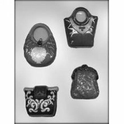 Chocolate Candy Brands (Handbags Purse CHOCOLATE  Candy MOLD Assorted Woman Style Designer)