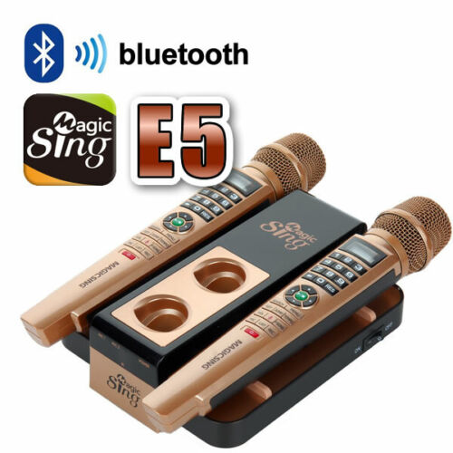WIRELESS 2 Microphones Karaoke MAGIC SING E5 w/ FREE 1 Year Card & 5,073 Songs