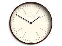 Newgate brand new dark wood wall clock
