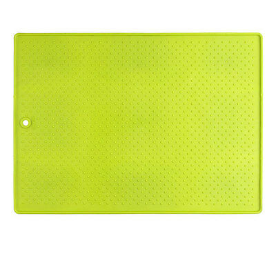 Dexas Pet Food Mat - Large Green - High Quality Rubber Pet Food Mat, Grippmat