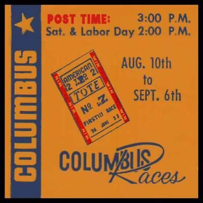 Columbus Races Fridge Magnet