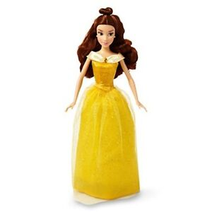 Disney-BELLE-Classic-Doll-w-Yellow-Dress-Beauty-Beast-Plastic-Toy-12-Gift-Girls