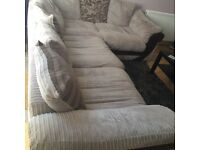 Large brown corner sofa for sale
