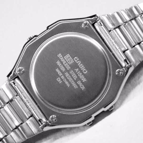 Retro Digital Unisex Casio Watch A158W Original Factory New Digital A158 Silver