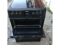 Black 60 cm electric cooker in mint condition with three months warranty