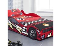 No 21 Red Children's Car Beds Boys Racing Red Kids Car Bed Frame
