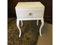Pretty shapely Bedside unit with drawer