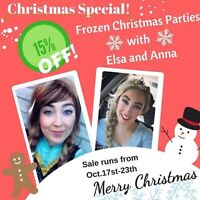 Elsa and Anna frozen parties special!