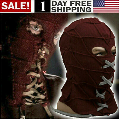 US! BrightBurn Red Hood Cosplay Kids Scary Horror Mask Halloween Costumes Props