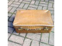 Vintage Faux Crocodile Suitcase